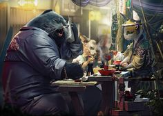Moments on the Cat Planet by cristata | Street Art | 3D | CGSociety