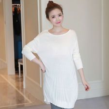0f1926009 Pop Maternity Knit Tops Pure Color Pregnancy Dress Loose Skin-friendly  Sweater