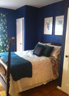 Sherwin Williams Loyal Blue Bedroom Themes, Bedroom Ideas, Bedroom Decor, Bedroom Makeovers, Modern Bedroom Furniture Sets, Modern Bedroom Design, Interior Paint Colors, Interior Design, Blue Bedroom
