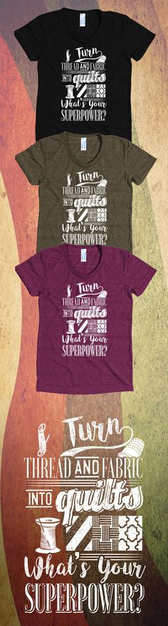 Do You Love Quilting?! Check out this awesome Quilt t-shirt you will not find anywhere else. Not sold in stores and Buy 2 or more, save on shipping! Grab yours or gift it to a friend, you will both love it