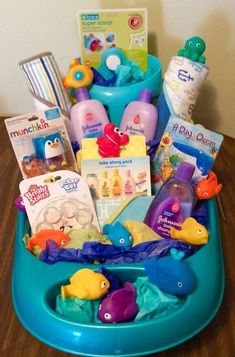 24 DIY baby shower gift basket ideas for boys - - Basket gifts for baby showers are important than you think! Here are baby shower gift basket ideas for boys the perfect gift for any newborn or baby shower gifts. Regalo Baby Shower, Baby Shower Gift Basket, Baby Baskets, Baby Shower Games, Baby Boy Shower, Raffle Baskets, Baby Showers, Gift Baskets For Kids, Baby Hamper