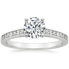 18K White Gold Starlight Diamond Ring (1/6 ct.tw.) from Brilliant Earth