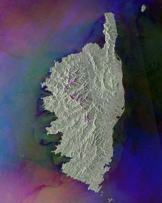 The French island of Corsica (from space) /by ESA #corsica