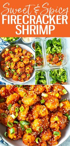 This Firecracker Shrimp is sweet, sticky, spicy and crunchy - it's a perfect appetizer or main dish when served with broccoli and rice. #firecrackershrimp Lunch Recipes, Crockpot Recipes, Soup Recipes, Salad Recipes, Breakfast Recipes, Vegetarian Recipes, Chicken Recipes, Dinner Recipes, Cooking Recipes