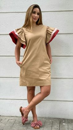 Cool Outfits, Fashion Outfits, Womens Fashion, Sewing Clothes, Puppet, Short Dresses, Creations, Beige, Hair Styles