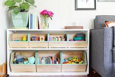 DIY: Pillowfort Box Hack – Farm Fresh Therapy, Toy Storage, Nursery Decor, Game Room by ewasinspiration Toy Storage Bins, Kids Storage, Storage Ideas, Storage Shelves, Toy Storage Solutions, Baby Storage, Closet Storage, Storage Cabinets, Storage Boxes