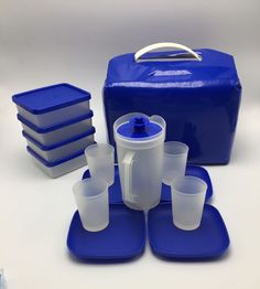 Tupperware TupperToys Kids Picnic Play Set Dishes Sandwich Keepers Tote  | eBay