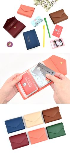 Organize your cards and business cards neatly and securely in this classy and well-made card book! You can store up to 20 cards and carry them conveniently.
