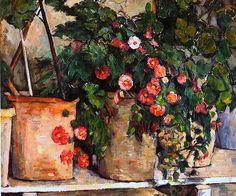 hayatsanatvesaire: Nature morte avec des pétunias (1885) - Paul Cezanne