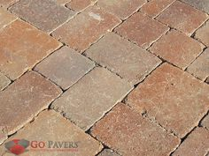 """The Belgrad Dublin Cobble paving stone. Its rustic look is achieved through Belgard's patented """"antiquing"""" technology, which provides for a legendary style achieved through modern manufacturing methods. Belgard Pavers, Paver Stones, Dublin, Backyard, Patio, Ireland, Technology, Rustic, Modern"""