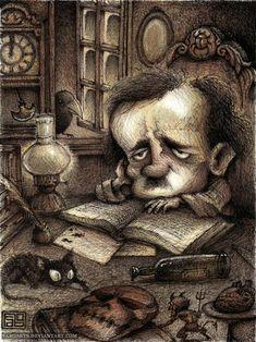 Poe by faboarts.deviantart.com on @DeviantArt