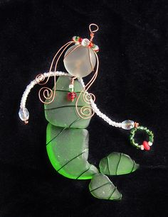 Sea Glass Mermaid Ornament or Suncatcher Beach by oceansbounty, $26.00