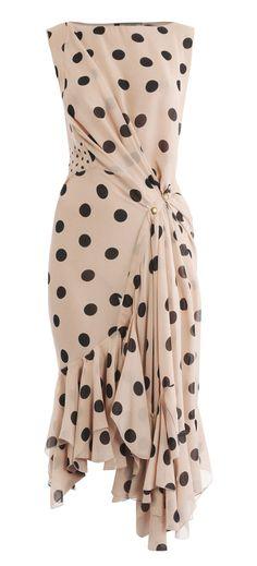 Blush polka dot dress