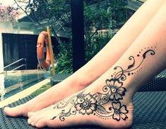 Henna Tatoos, Henna Designs Feet, Henna Tattoo Designs Simple, Tattoo Designs Foot, Anklet Tattoos, Mehndi Tattoo, Tattoo Designs For Women, Ankle Henna Tattoo, Mehndi Art