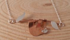 Sterling Silver and Copper Sloth Necklace £12.00