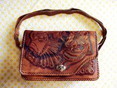 Tooled Leather Vintage Purse
