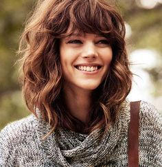 Nice Hairstyles for Curly Hair with Bangs                                                                                                                                                     More