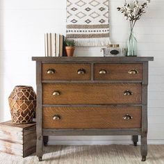 Painted Furniture :: Pistol Annie Empire - The Driftwood Home Chalk Paint Furniture, Furniture Projects, Diy Furniture, Furniture Design, Chalk Paint Dresser, Dark Wood Furniture, Refurbished Furniture, Repurposed Furniture, Furniture Makeover