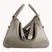 Linda Leather Bag Grey