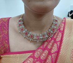 South Indian Beautiful Diamond Necklace Diamond Necklace Set, Diamond Choker, Emerald Necklace, Diamond Bangle, Diamond Pendant, Diamond Tops, Uncut Diamond, Gold Bangle Bracelet, Gold Bangles