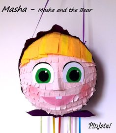 MASHA - Masha and the bear pinata, birthday gift, any party joy. for all ages with young spirit :) Mais Birthday Pinata, 3rd Birthday Parties, 2nd Birthday, Birthday Gifts, Masha Cake, Marsha And The Bear, Olaf Cake, Bear Party, Party Themes