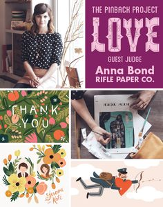 Our judge for this month's Pinback Project design contest is Anna Bond of Rifle Paper Co. Design a button to impress Anna and you can win!
