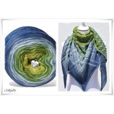 Crochet Patterns Scarves Knitting pattern with gradient wool Blue Hortensia Poncho Knitting Patterns, Knitting Blogs, Loom Knitting, Knitting Socks, Free Knitting, Crochet Patterns, Knit Socks, Moda Emo, Learn How To Knit