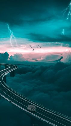 Sky Road iPhone Wallpaper - iPhone Wallpapers