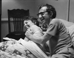 Woody Allen and Diane Keaton laugh on set. Source: Live Journal