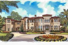 [ Mediterranean Home Plans Style Designs From House Floor And Buildingthe Trusted ] - Best Free Home Design Idea & Inspiration Mediterranean Homes Exterior, Mediterranean House Plans, Mediterranean Style, Tuscan Homes, Mediterranean Architecture, House Architecture, Home Design, Interior Design, Tuscan House Plans