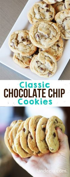 Chocolate Chip Cookies The BEST Classic Chocolate Chip Cookie Recipe! A no fail recipe for those perfect chocolate chip cookies!The BEST Classic Chocolate Chip Cookie Recipe! A no fail recipe for those perfect chocolate chip cookies! Chocolate Chip Cookies Rezept, Classic Chocolate Chip Cookies Recipe, Best Chocolate Chip Cookie, Chocolate Chips, Chocolate Chocolate, Chocolate Brownies, Chocolate Desserts, Chocolate Covered, Baking Recipes