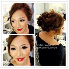 Asian bridal makeup, Asian wedding makeup, bridal hair style. Like her hairstyle!