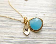 November Birthstone Halskette anfängliche Halskette von IrinSkye