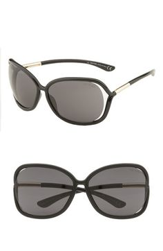 02e8aba8f190 Tom Ford  Raquel  63mm Oversized Open Side Sunglasses