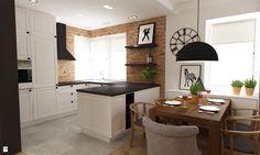 Kuchnia styl Eklektyczny - zdjęcie od Grafika i Projekt architektura wnętrz - Kuchnia - Styl Eklektyczny - Grafika i Projekt architektura wnętrz Dining, Table, Furniture, Home Decor, White Kitchens, Garden, Environment, Interiors, Living Room