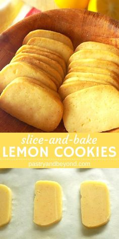 Lemon Slice-and-Bake Cookies-These from scratch lemon slice-and-bake cookies are very light and easy to make! If you are a lemon lover, you should try these homemade, delicious lemon cookies. baking Lemon Slice-and-Bake Cookies Cake Mix Cookie Recipes, Best Cookie Recipes, Sweet Recipes, Healthy Lemon Recipes, Lemon Recipes Baking, Soup Recipes, Bake Off Recipes, Chicken Recipes, Cookie Recipes From Scratch