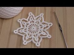 Crochet Snowflakes How to crochet snowflake – YouT … – Snowflakes World Crochet Snowflake Pattern, Christmas Crochet Patterns, Crochet Ornaments, Crochet Buttons, Crochet Snowflakes, Holiday Crochet, Christmas Knitting, Crochet Home, Crochet Diagram