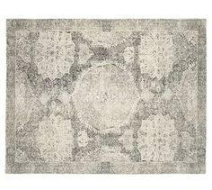 Barret Printed Rug #potterybarn Ben likes this worn-stucco look which is not the official name, it's just what's he's calling it