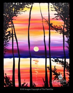 Vermont Sunset Painting - Jackie Schon, The Paint Bar