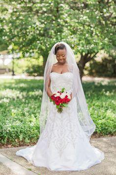 Charcoal Grey & Red Southern South Carolina Wedding