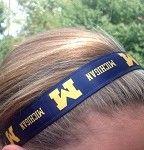 One Up UNIVERSITY OF MICHIGAN non slip headband....GO BLUE!!