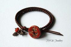 Boho Beaded Leather Wrap Bracelet £12.00