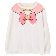 Sailor Moon Harajuku Sweater Print Top Cute Kawaii Cosplay Japan Anime... ($24) ❤ liked on Polyvore featuring tops, sweaters, kawaii, pink sweater, animal print sweater, pattern sweater, animal tops and animal print tops