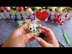 水晶串珠 動漫類飾品 天使熊 - YouTube