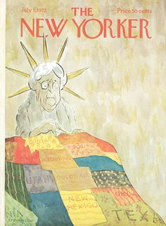 The New Yorker - Saturday, July 1, 1972 - Issue # 2472 - Vol. 48 - N° 19 - Cover by : James Stevenson