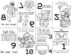 10 mandments color sheet arts for kids pinterest color sheets