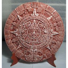 3D Aztec Calendar with Wooden Stand (Mexico) | Overstock™ Shopping - Great Deals on Accent Pieces