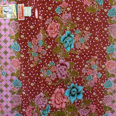 purple flowers cotton traditional Indonesian Batik style,batik ratna dewi sarong fabric.2 metrer by TheThailand on Etsy