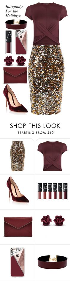 """Untitled #289"" by gina-cremont ❤ liked on Polyvore featuring River Island, New Look, Gianvito Rossi, Rebecca Minkoff, Casetify and Vanessa Mooney"