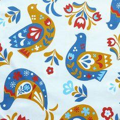 Scandinavian birds - from fabric rehab - via print & pattern